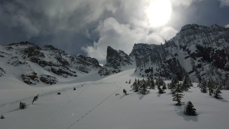 Looking up Surprise Pass